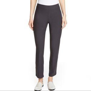 Eileen Fisher Crepe Dark Gray Skinny Ankle Pants